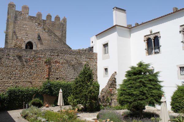 Courtyard of the castle, now a hotel called a Posada, very high class lodgings