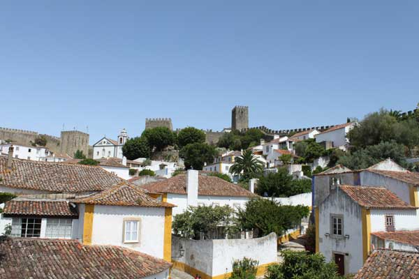 View over the village from the walls near the main entrance to Óbidos