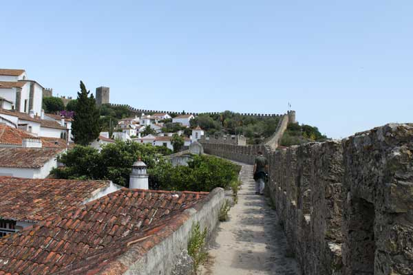 It was very easy to walk along the walls although some areas required attention as there is no barrier to the inside of the village